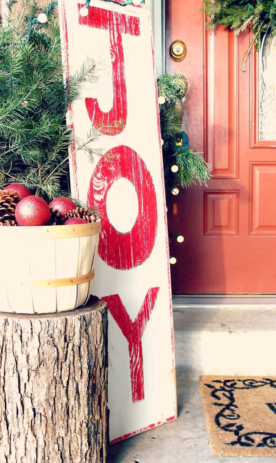 sign of joy Country Ideas for Outdoor Christmas DéCor
