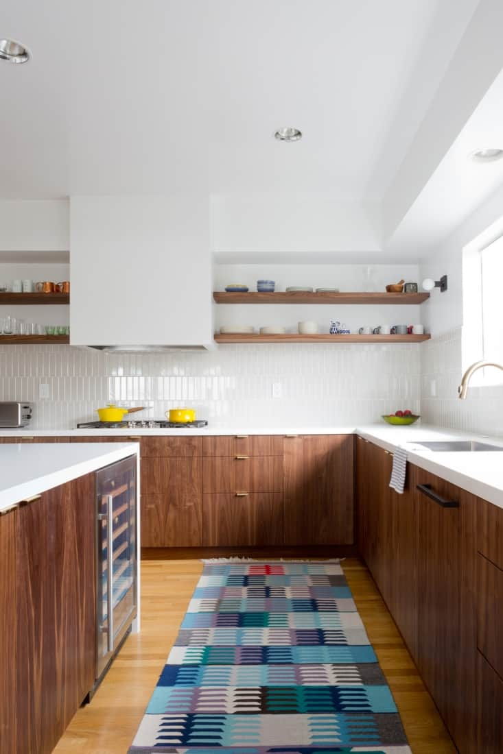white and wood modular kitchen cabinets