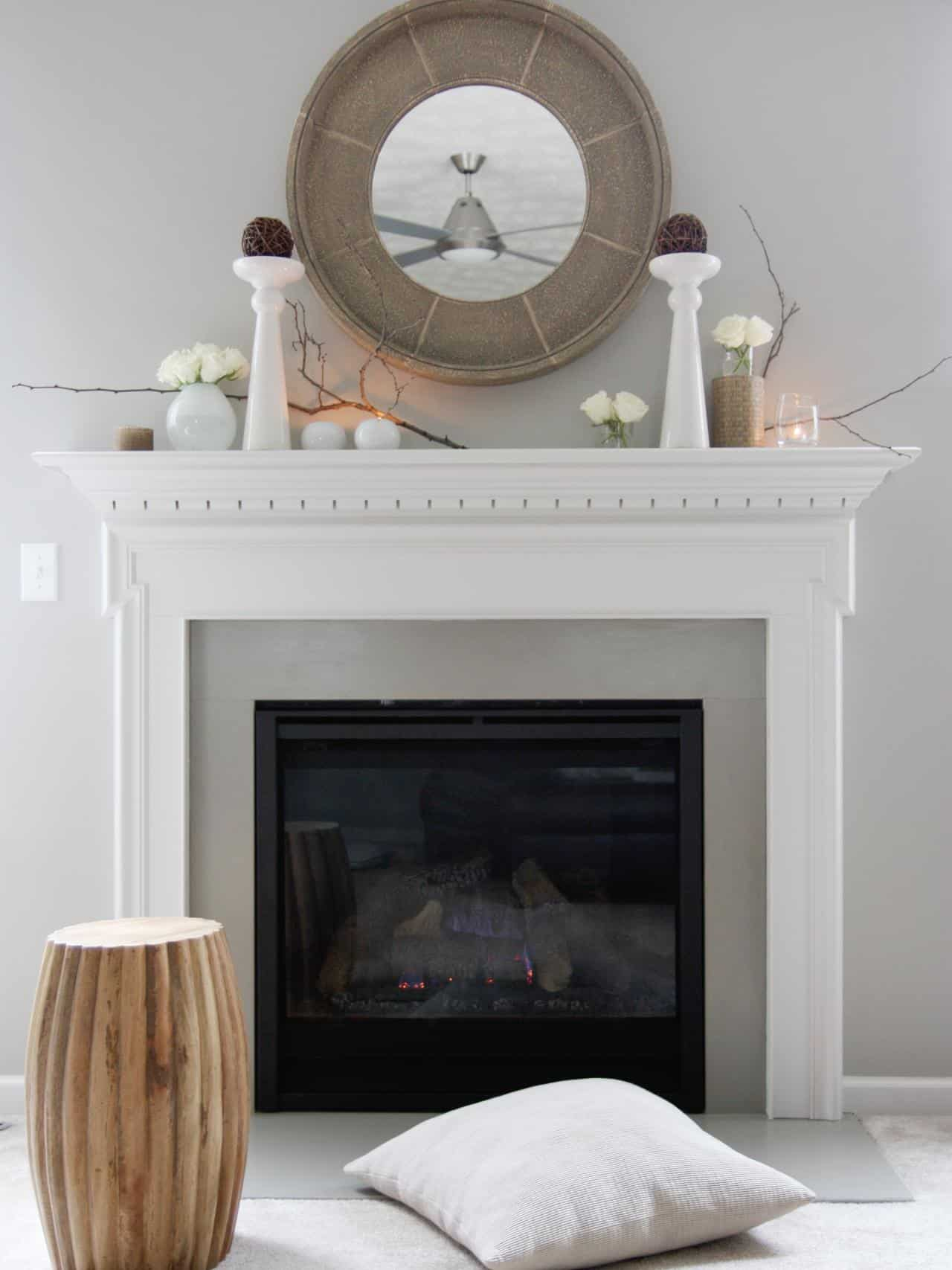 If you have a wall that is already a smooth hue consider having a fireplace that is one shade lighter