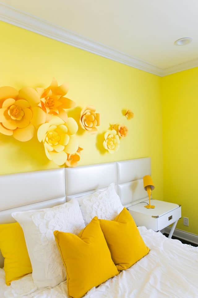 bright yellow teen bedroom