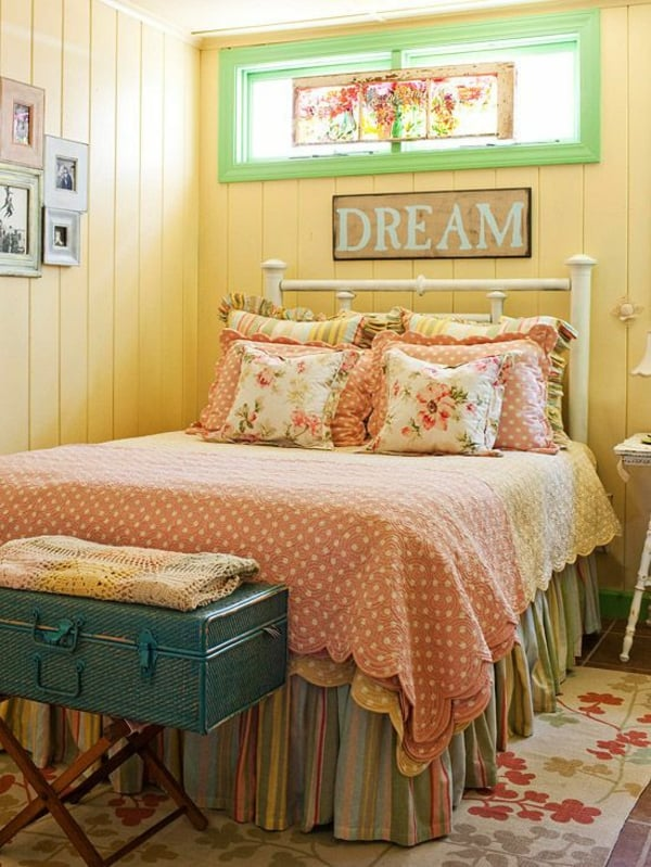 girlish cottage bedroom
