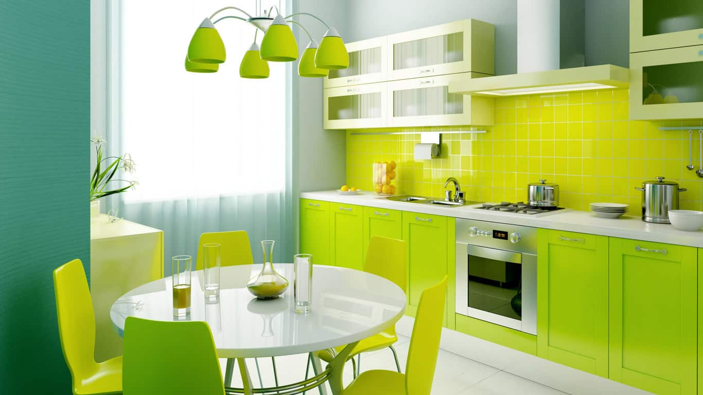 Lime green is the perfect shade for a glossy finish.