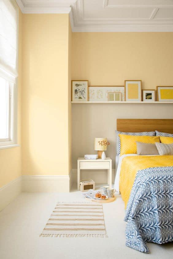 modern yellow bedroom