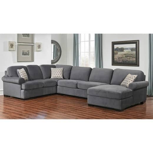 noella fabric sectional sofa