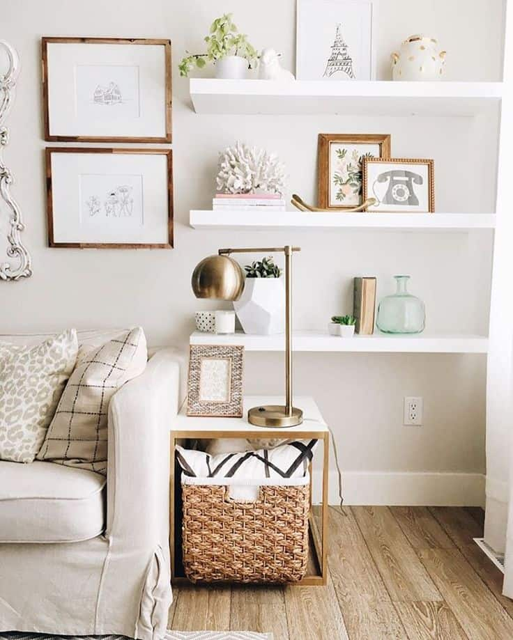 15 open shelving ideas to consider for your home revamp - Open shelving living room ...