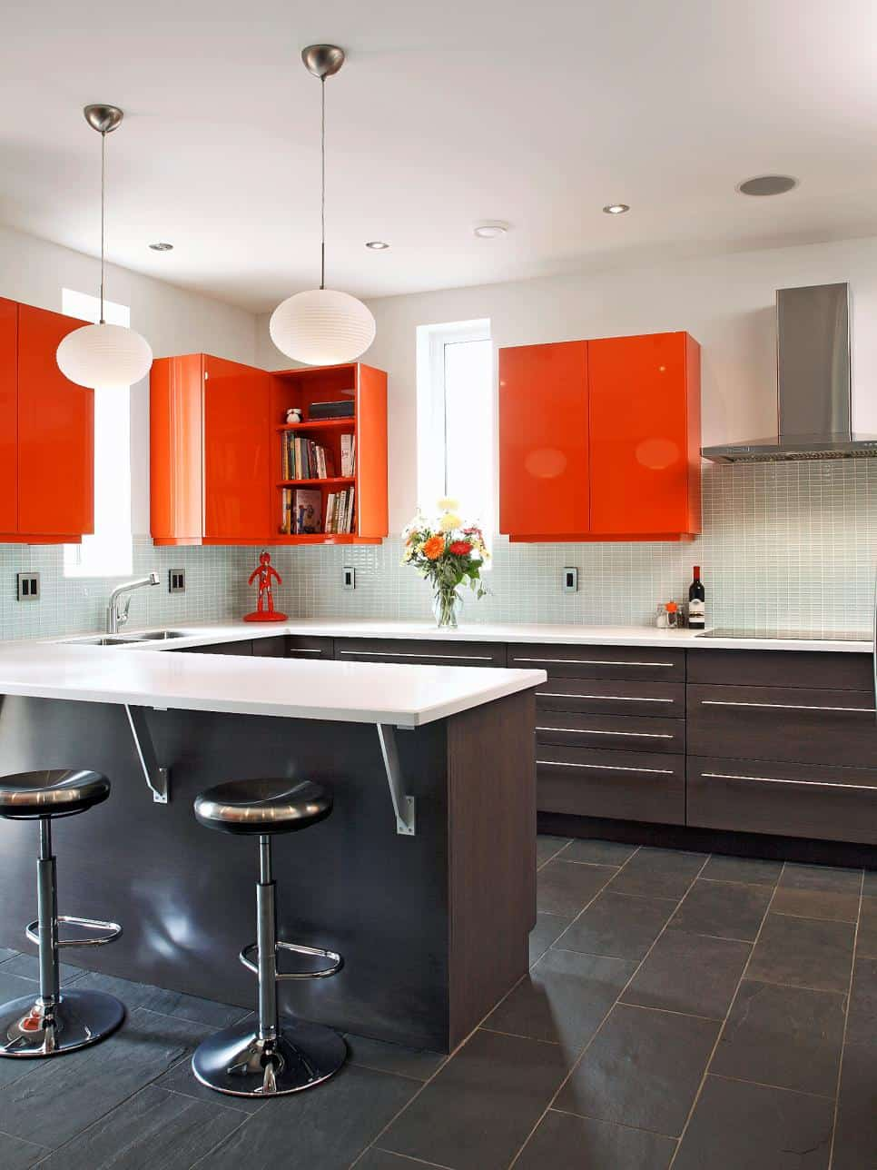 orange kitchen Retro Kitchen Ideas to Upgrade Your Current Kitchen