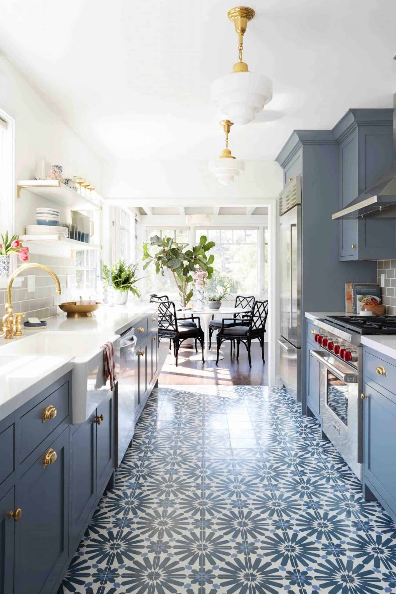 retro kitchen floor Retro Kitchen Ideas to Upgrade Your Current Kitchen