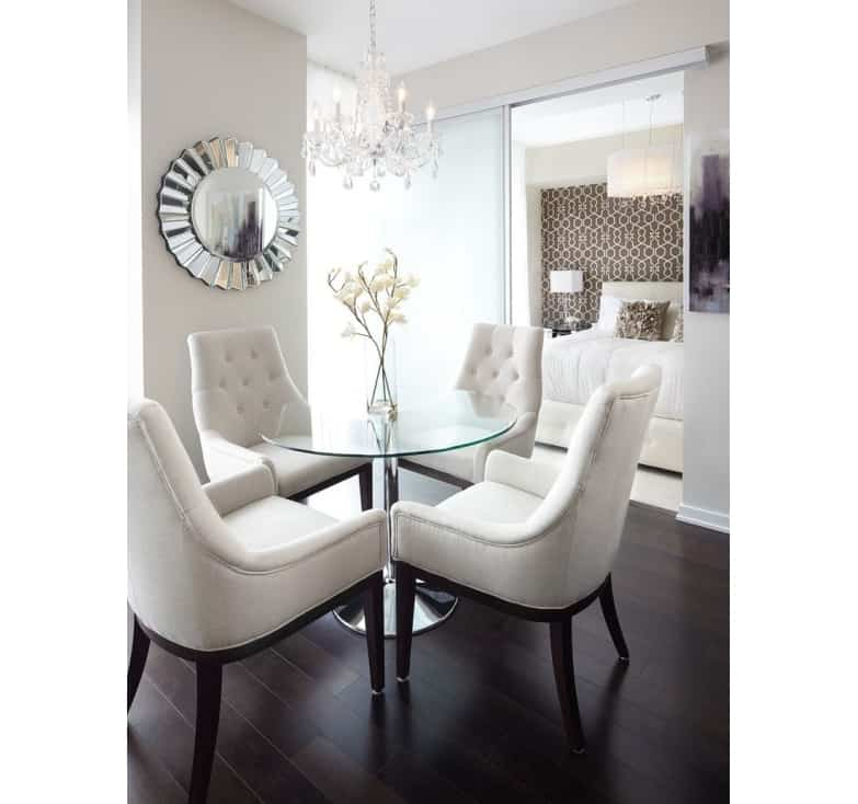 round glass simple dining room table