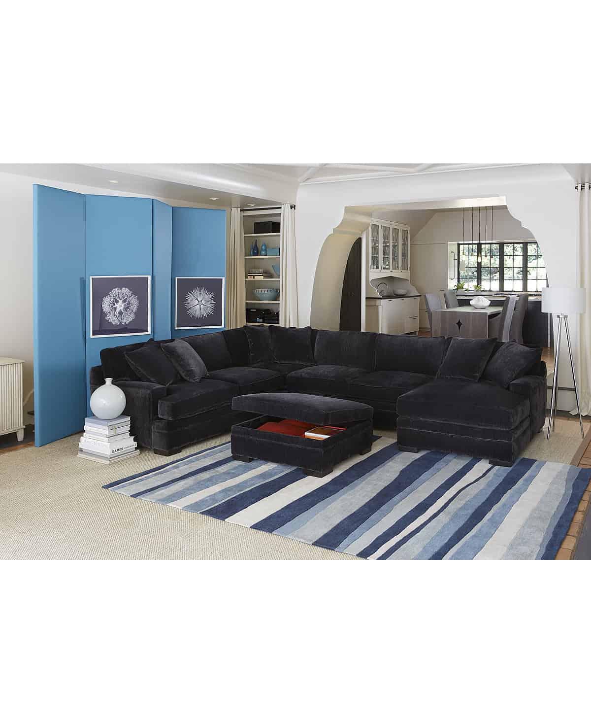 teddy fabric sectional sofa
