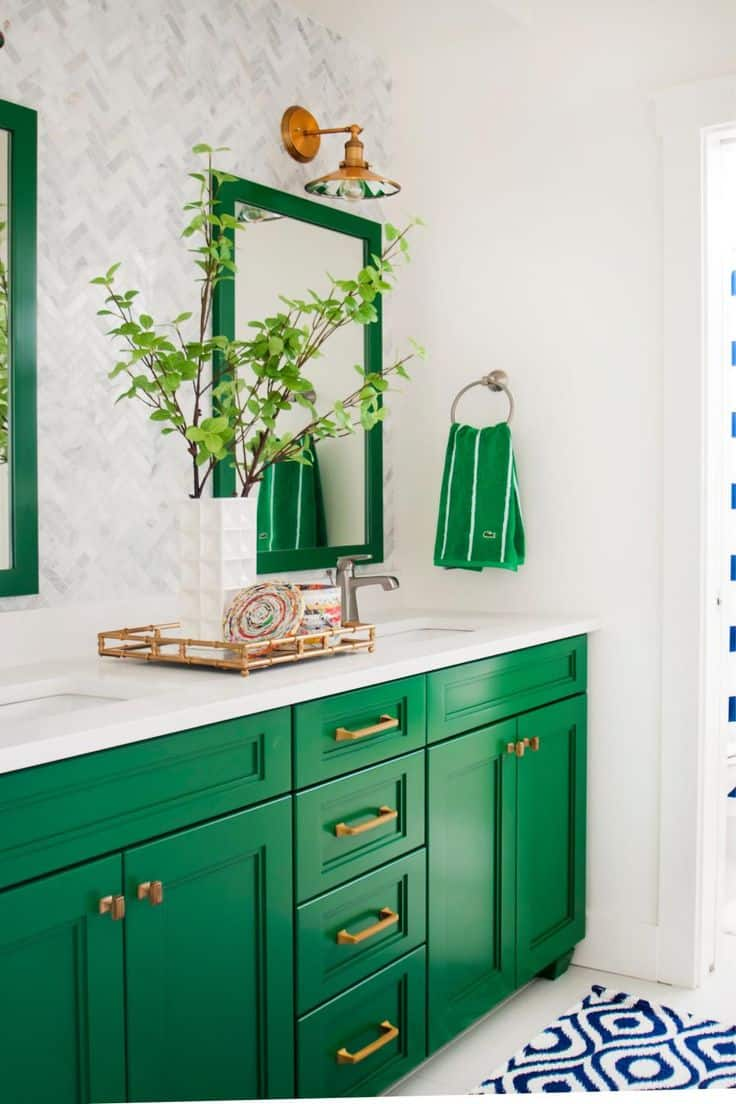 Traditional green is the perfect compliment to any room.