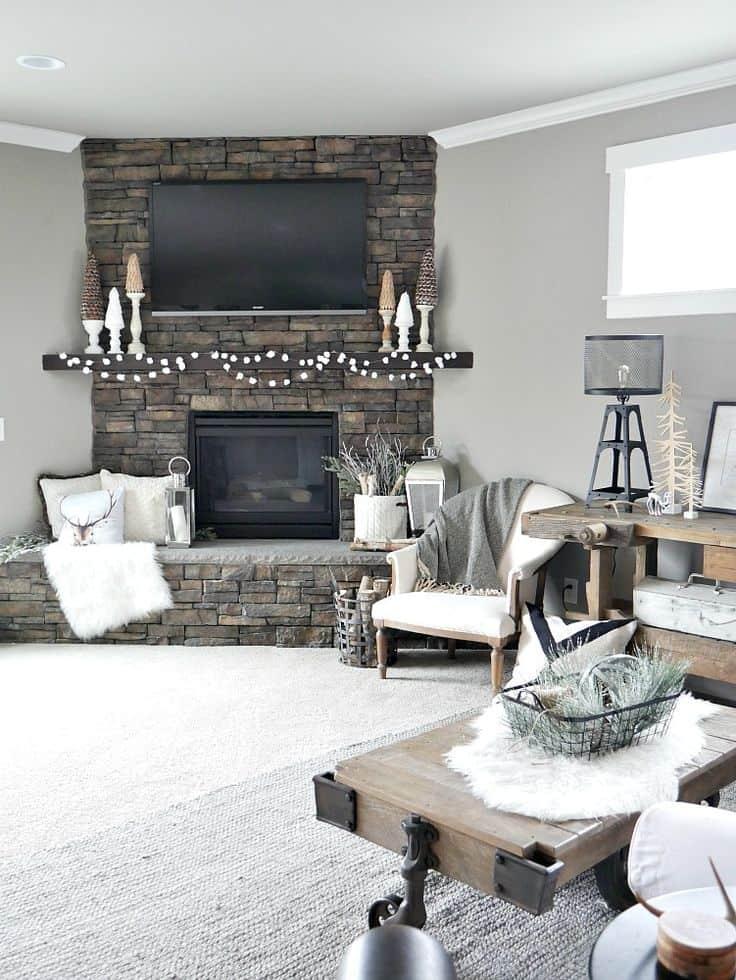 winter house decor idea