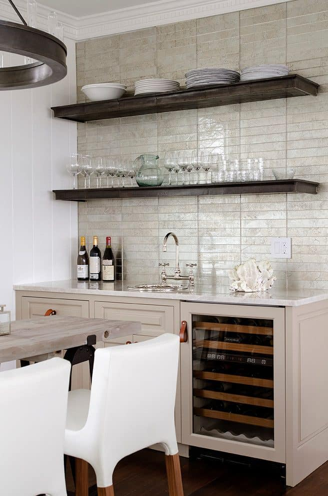 wooden open shelving in kitchen 15 Open Shelving Ideas To Consider For Your Home Revamp