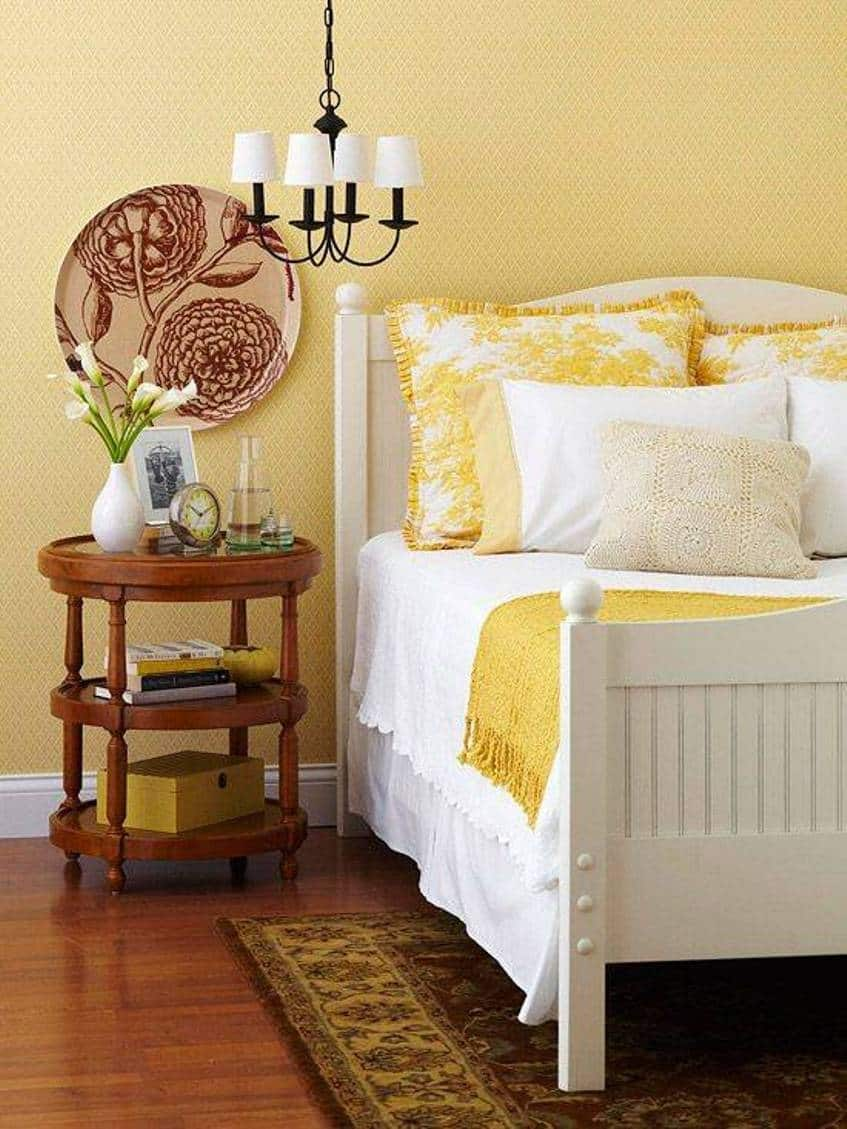yellow traditional bedroom