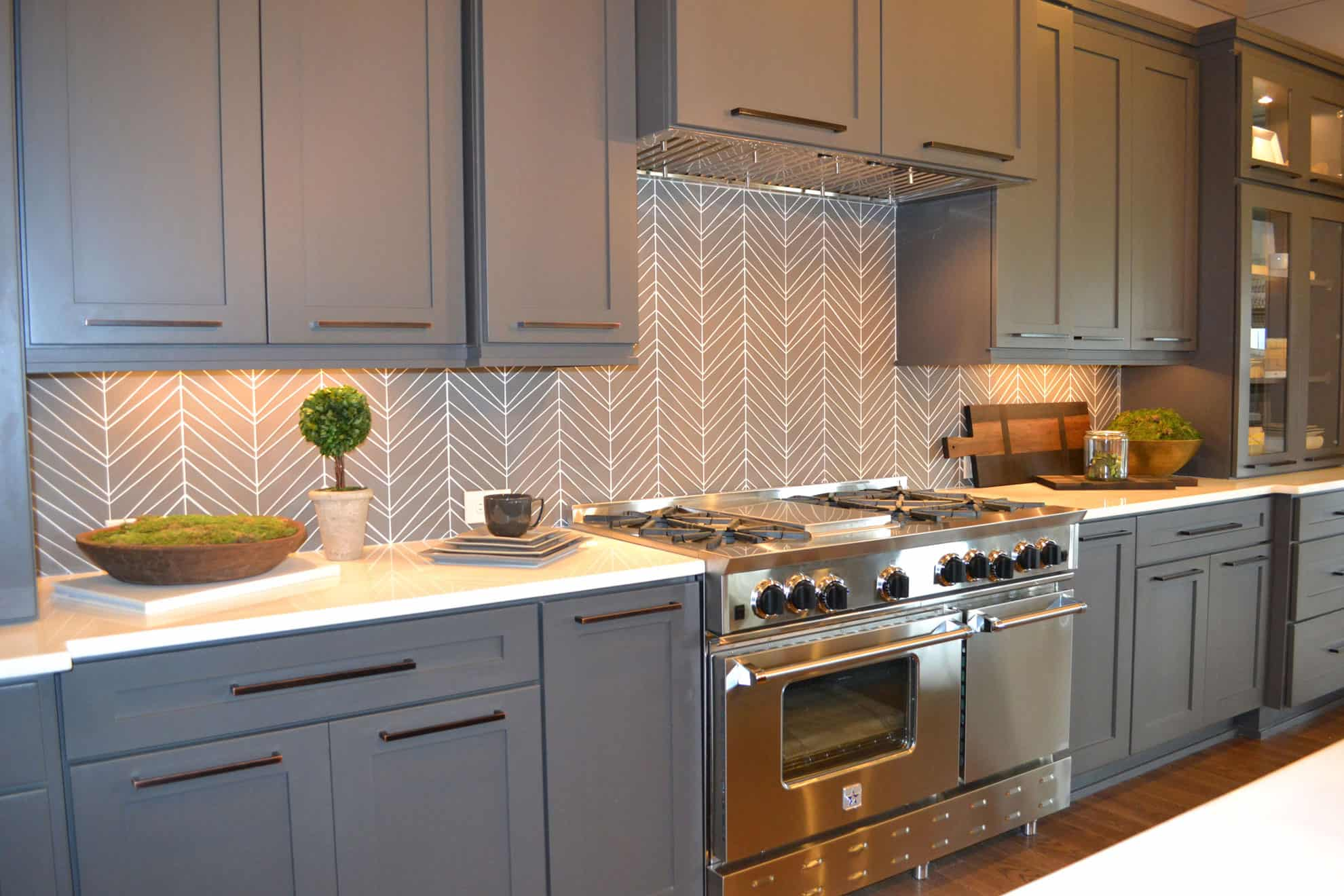 Chevron is one of those patterns that simply works anywhere it is placed.