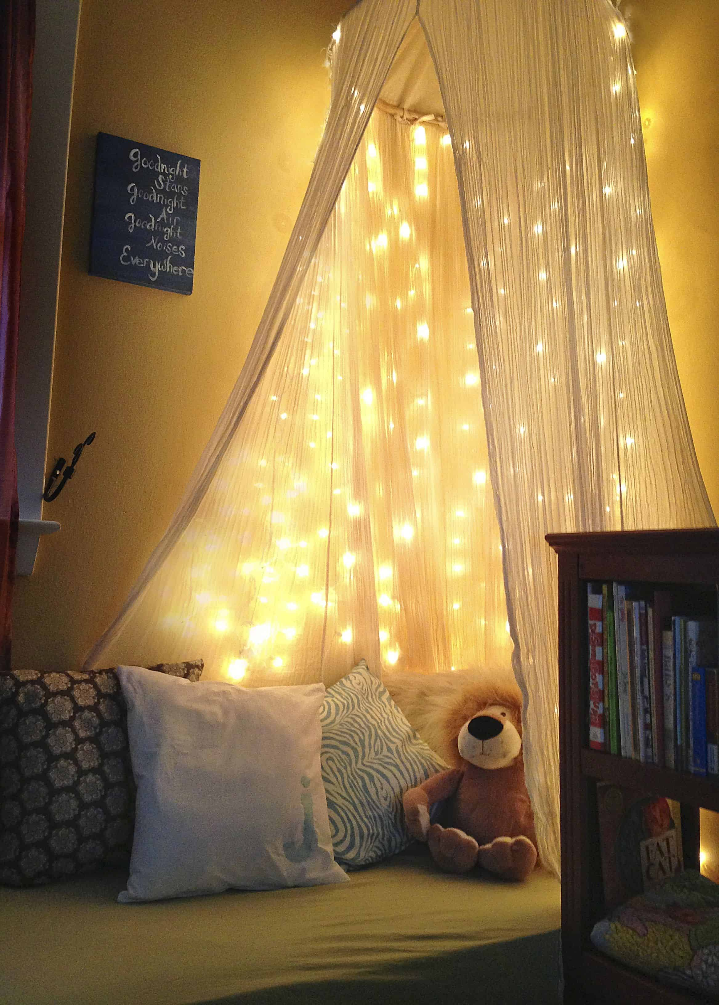 Adding a subtle set of soft lights to your kid's playroom can provide the comfort they need to play in their favorite space all day and night.