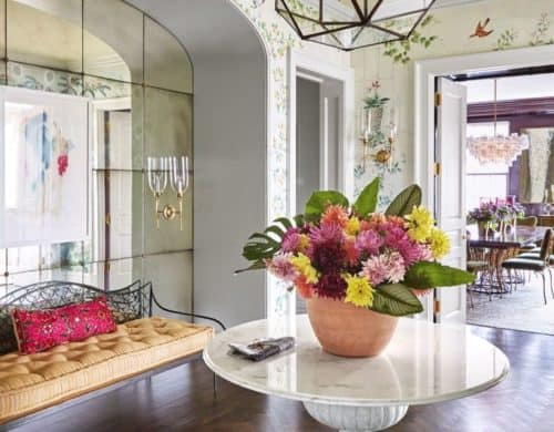 If you do not want to add palm trees or have such a bold Island feel in your entryway