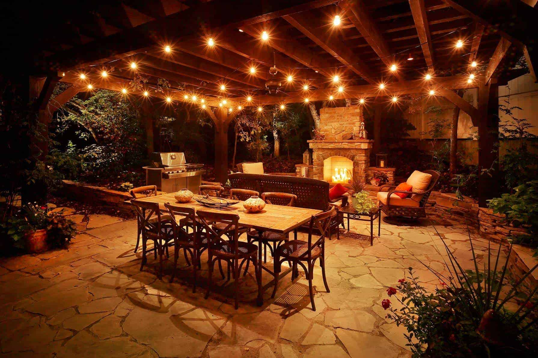 Lighting up your patio space is quite simple. Simply bring lights to any darker spots in your patio space.