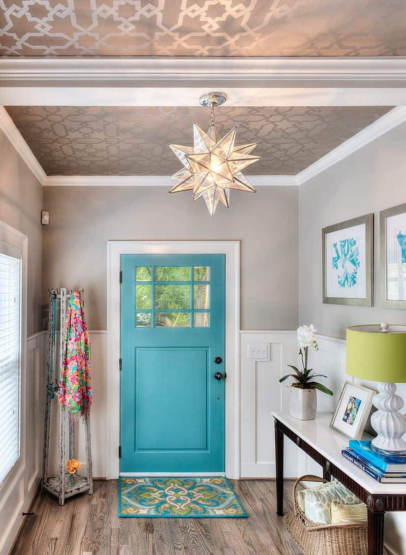 Trendy welcoming entryway ideas - Small entryway paint colors ...
