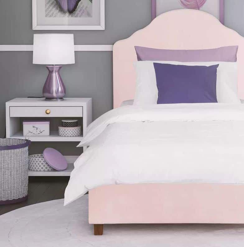 Pale pink bed