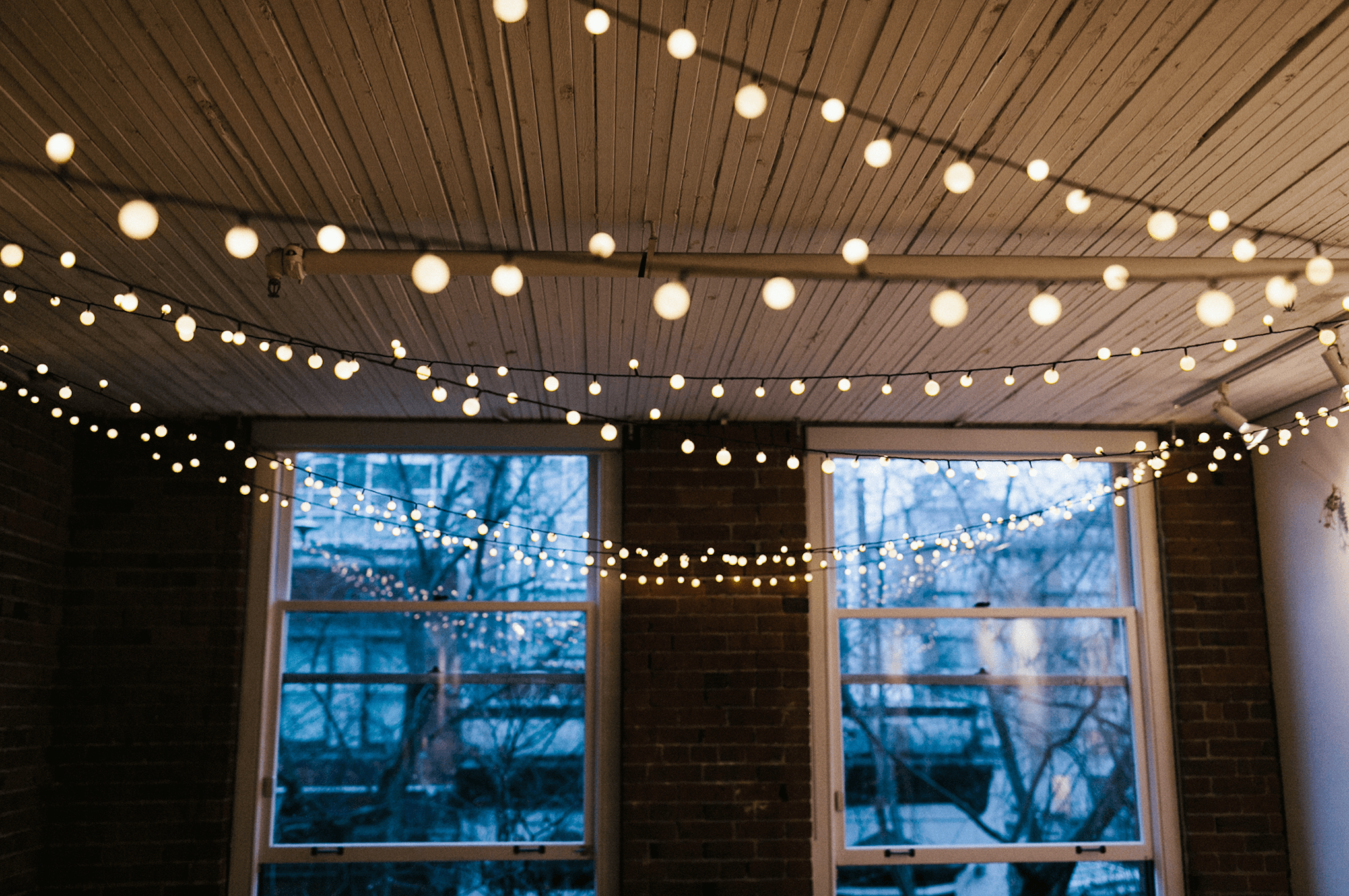 Take it a step further by adding colorful string lights to your clear lights for a touch of something new and different.