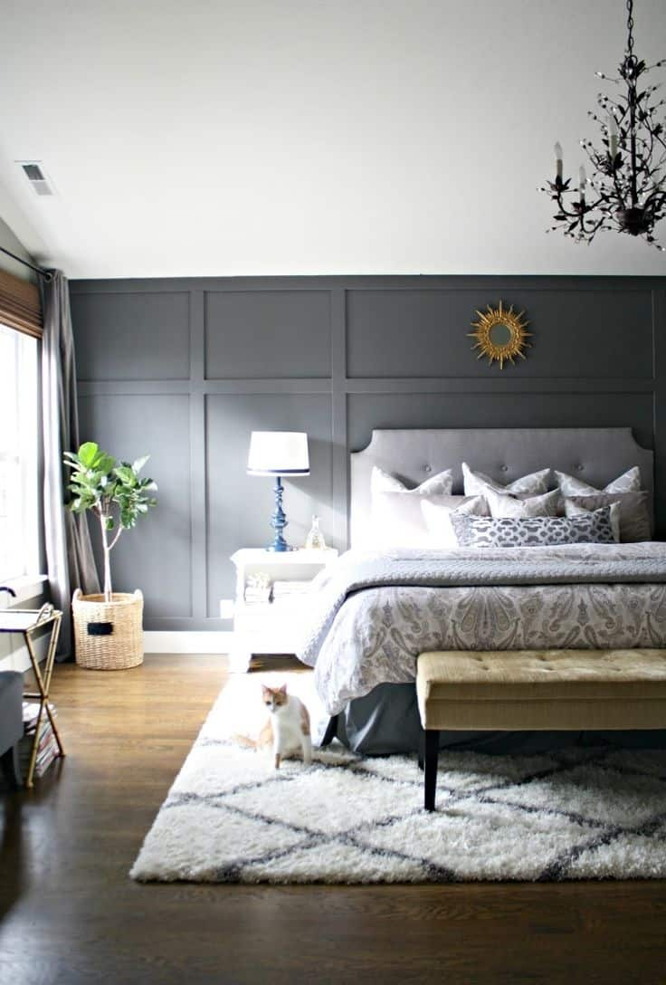 An accent wall is perfect for any space of the home especially, in the bedroom.