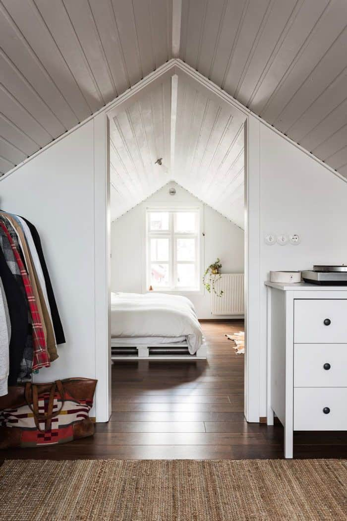 attic bedroom with closet