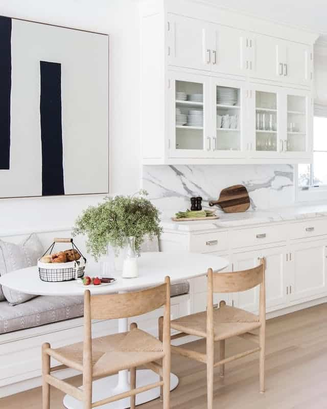 banquette built in benches small kitchen