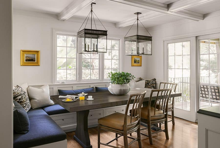 banquette-seating-breakfast-nook contemporary
