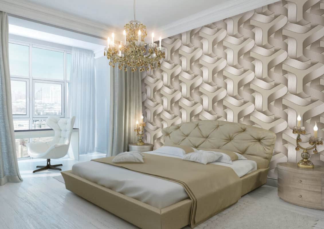 Wallpaper is great because it can give you the 3D feel that you may want without having to use elaborate paint.