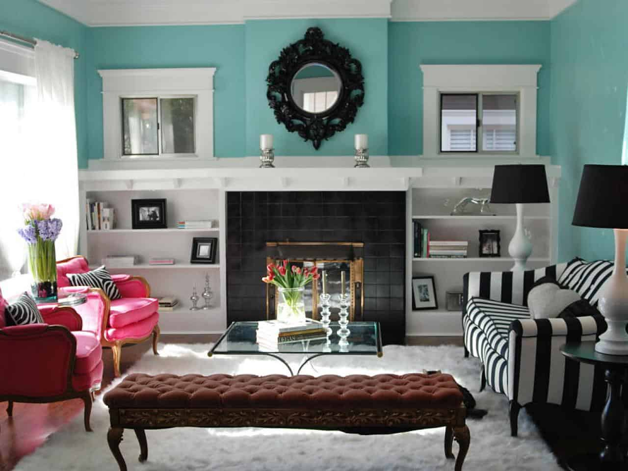 A brick fireplace doesn't always have to be rustic or conventional, it can actually be modern and trendy.