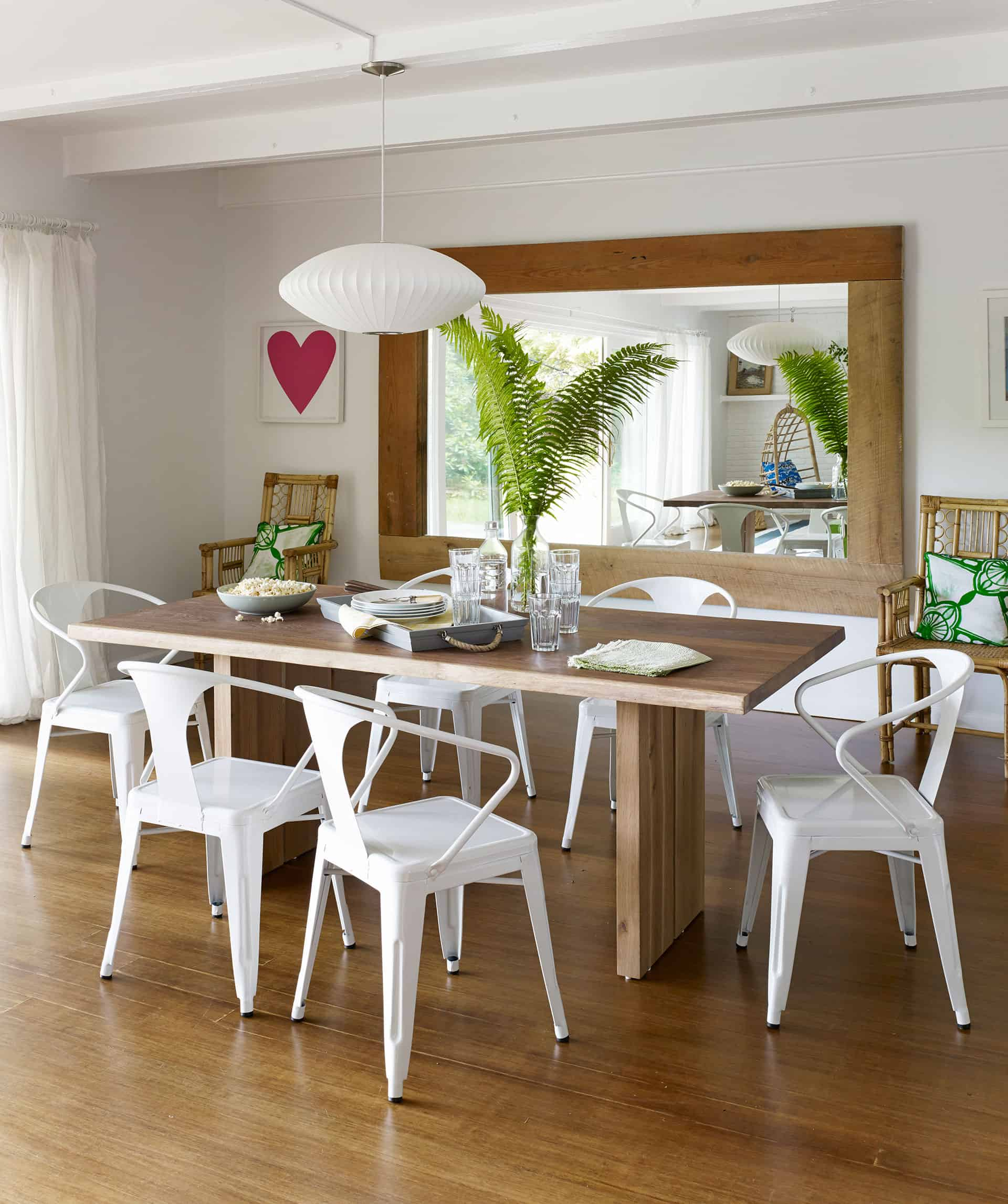 casual bright dining room