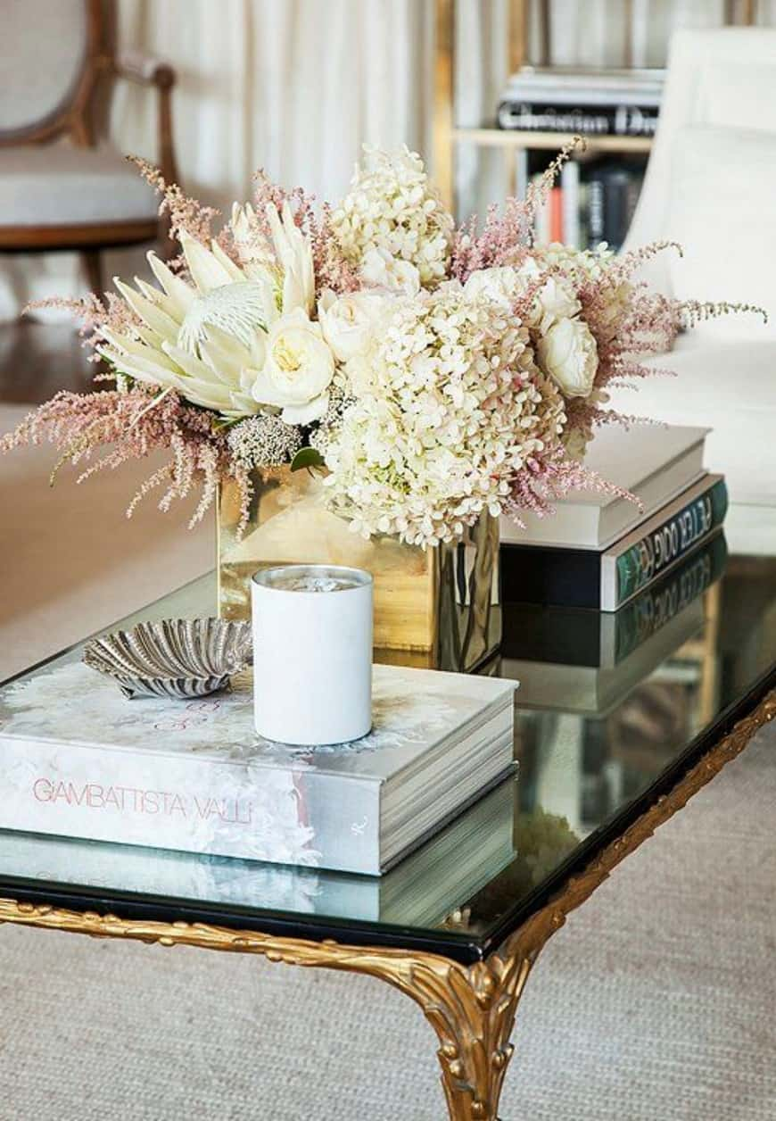 coffee table decor  How to Decorate Your Home Using Books