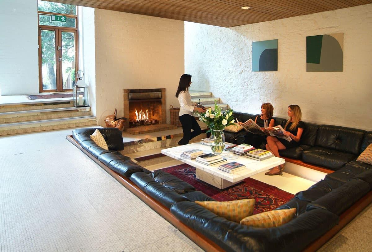 contemporary sunken living room conversation pit
