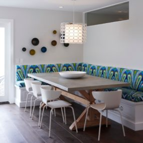 funky modern Kitchen banquette seating ideas