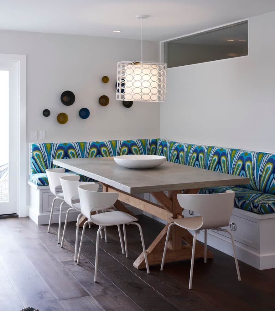 Petite Table De Cuisine Blanche: 15 Kitchen Banquette Seating Ideas For Your Breakfast Nook