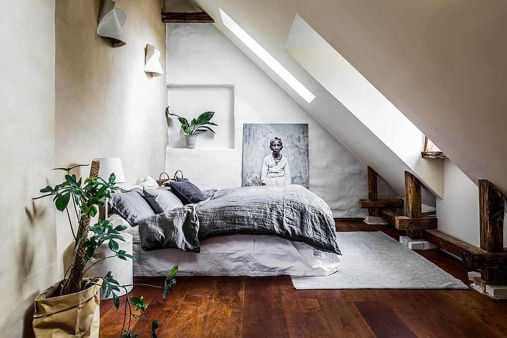 gorgeous inspired attic bedroom design