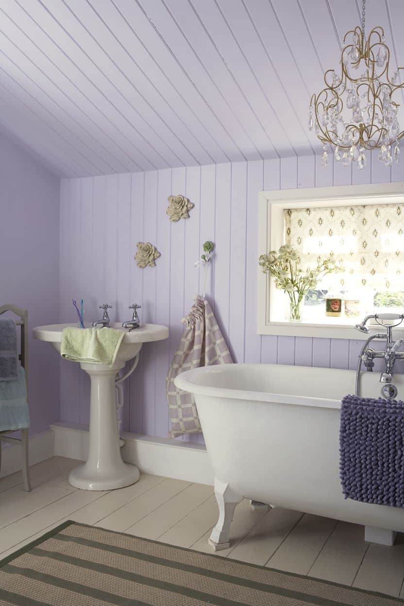 Think outside of the box when it comes to using the color lavender.