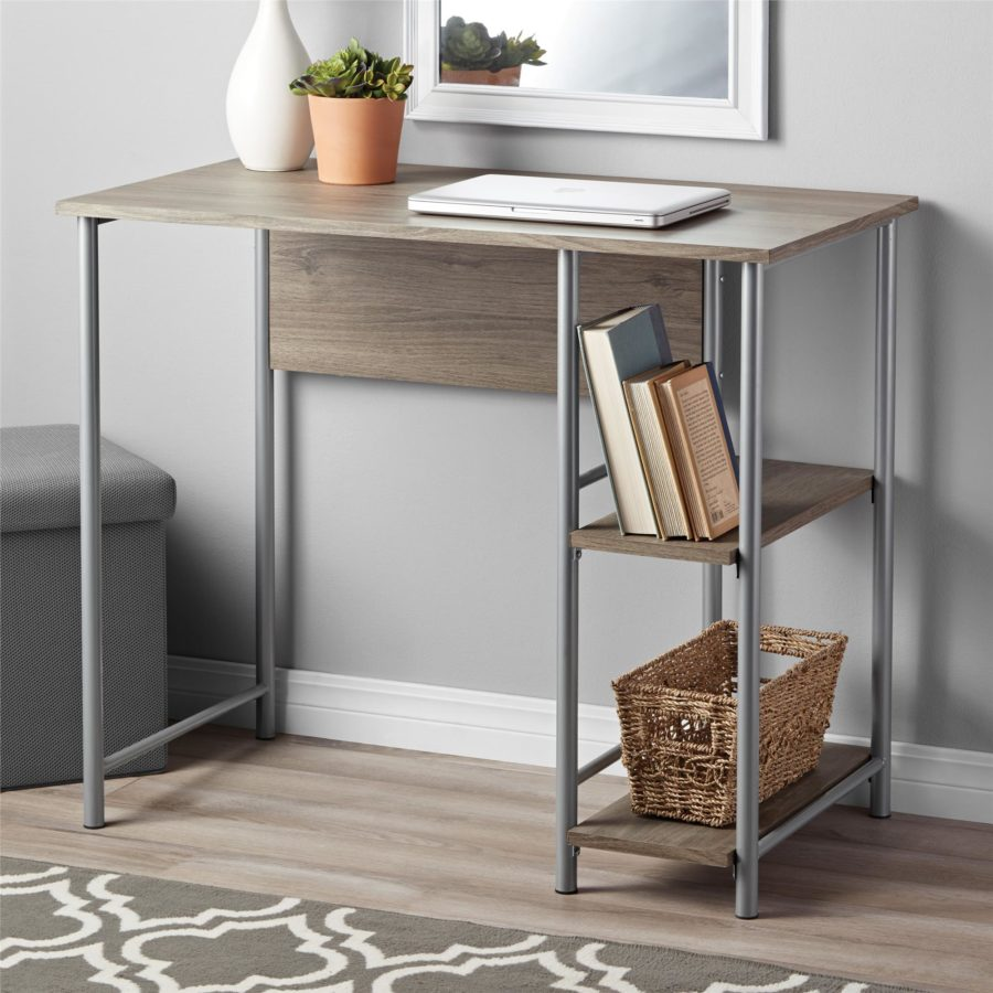 View In Gallery Mainstays Wood And Metal Computer Desk 900x900 15 Small Desks Fit For Spaces