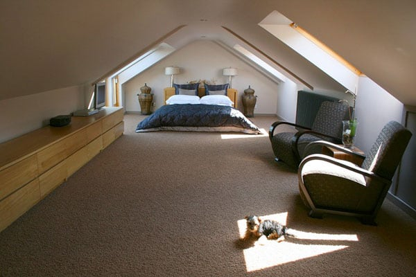 masculine attic bedroom simple