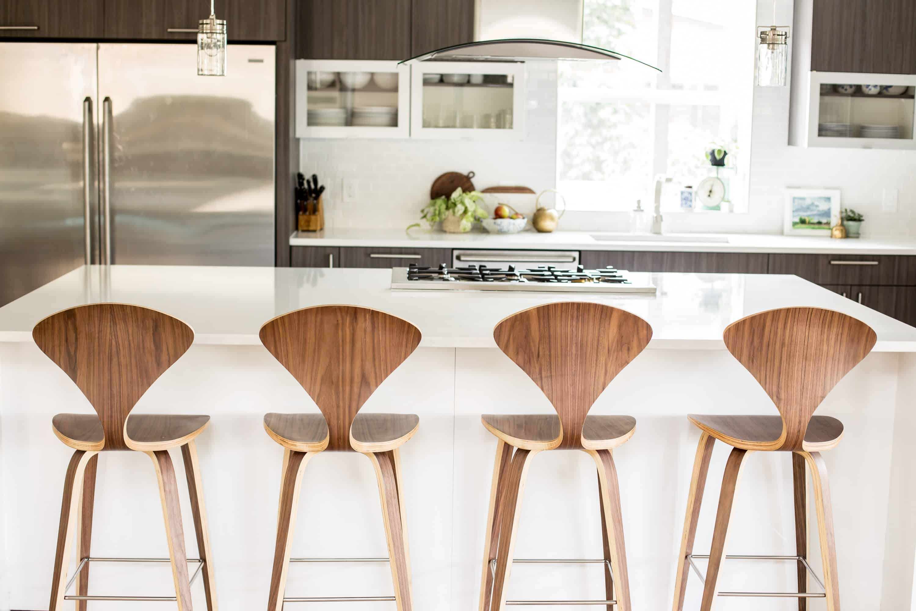 Mid-century stools are fun and contemporary in small doses.