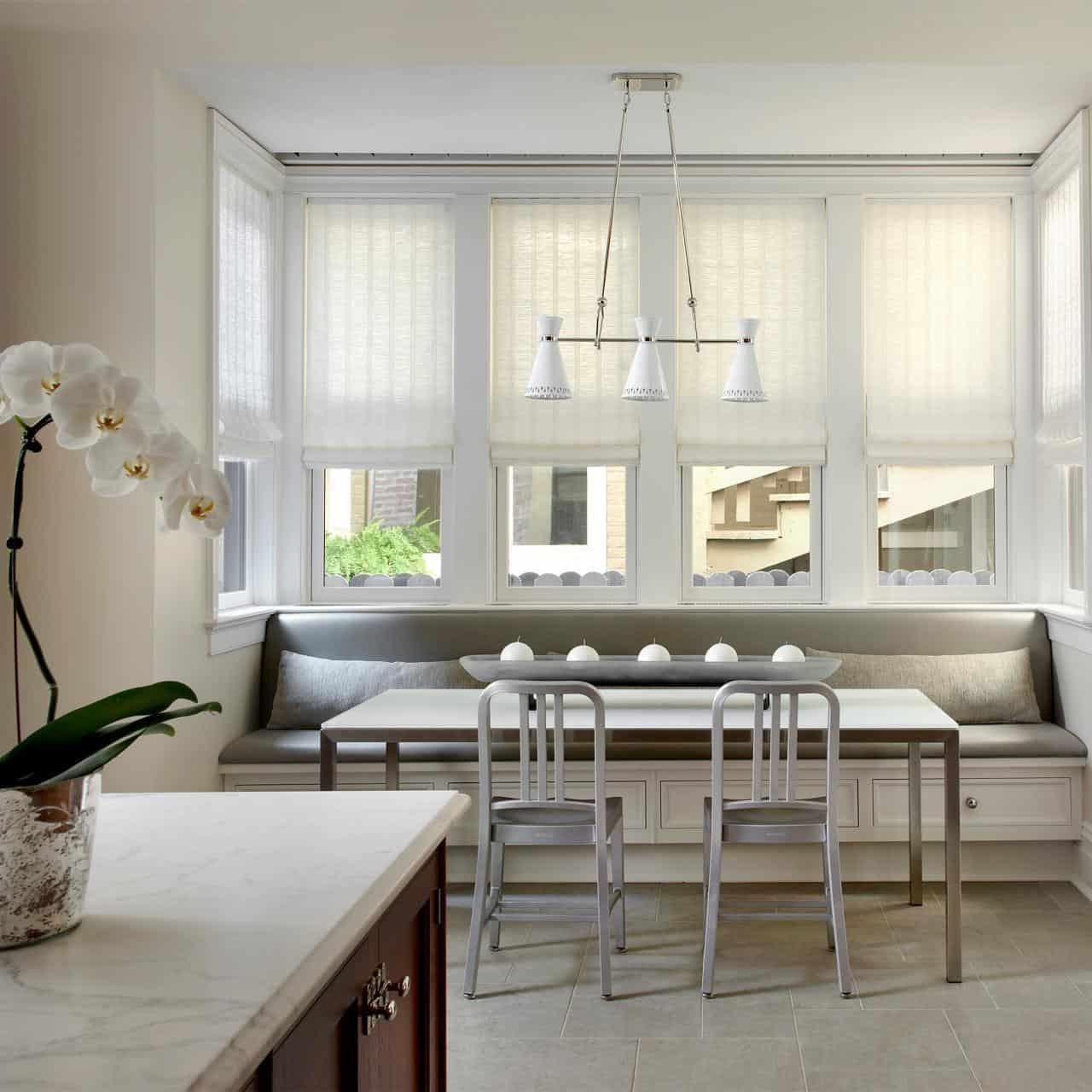 modern banquette kitchen seating