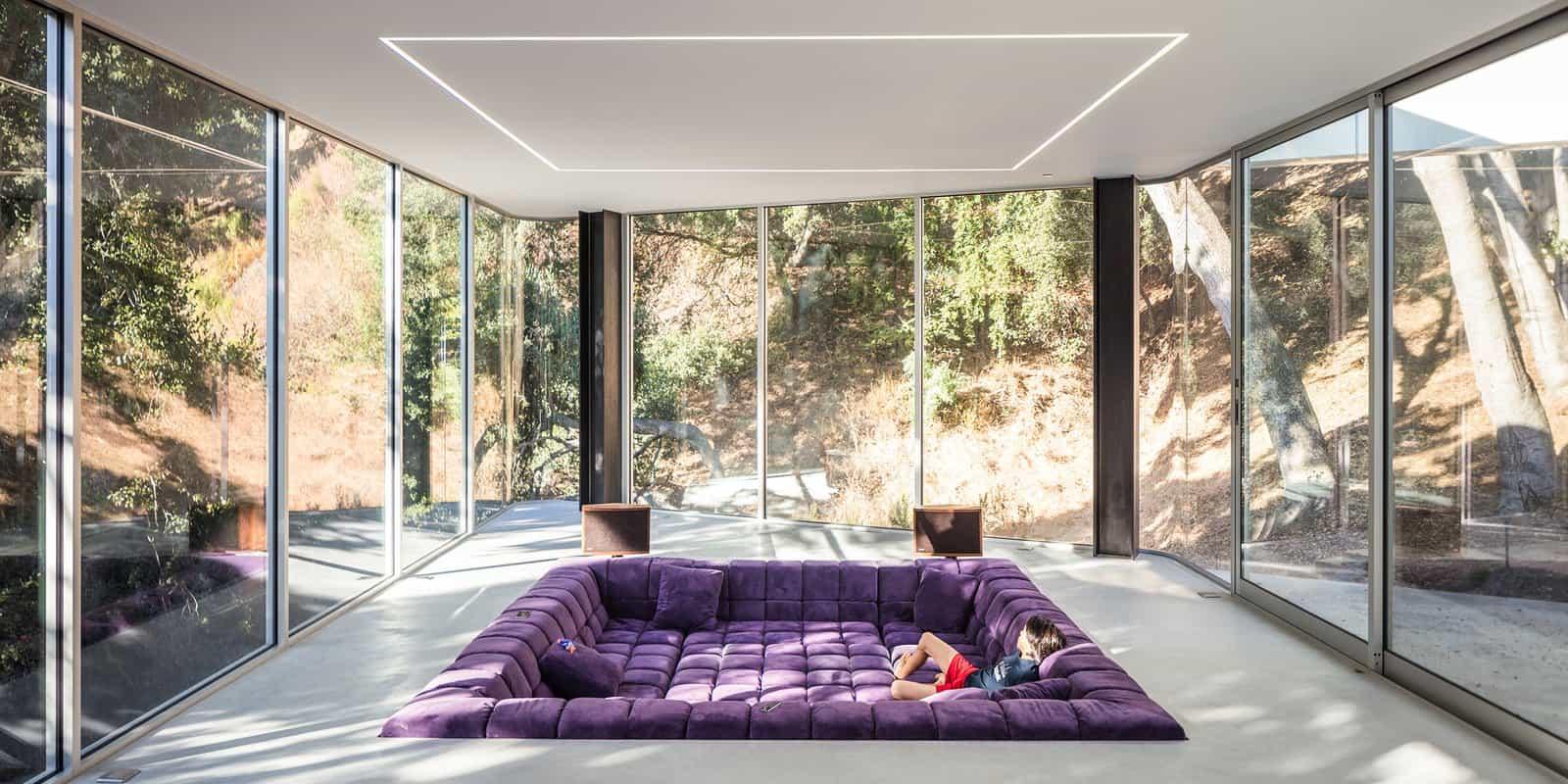 modern full-window conversation pit