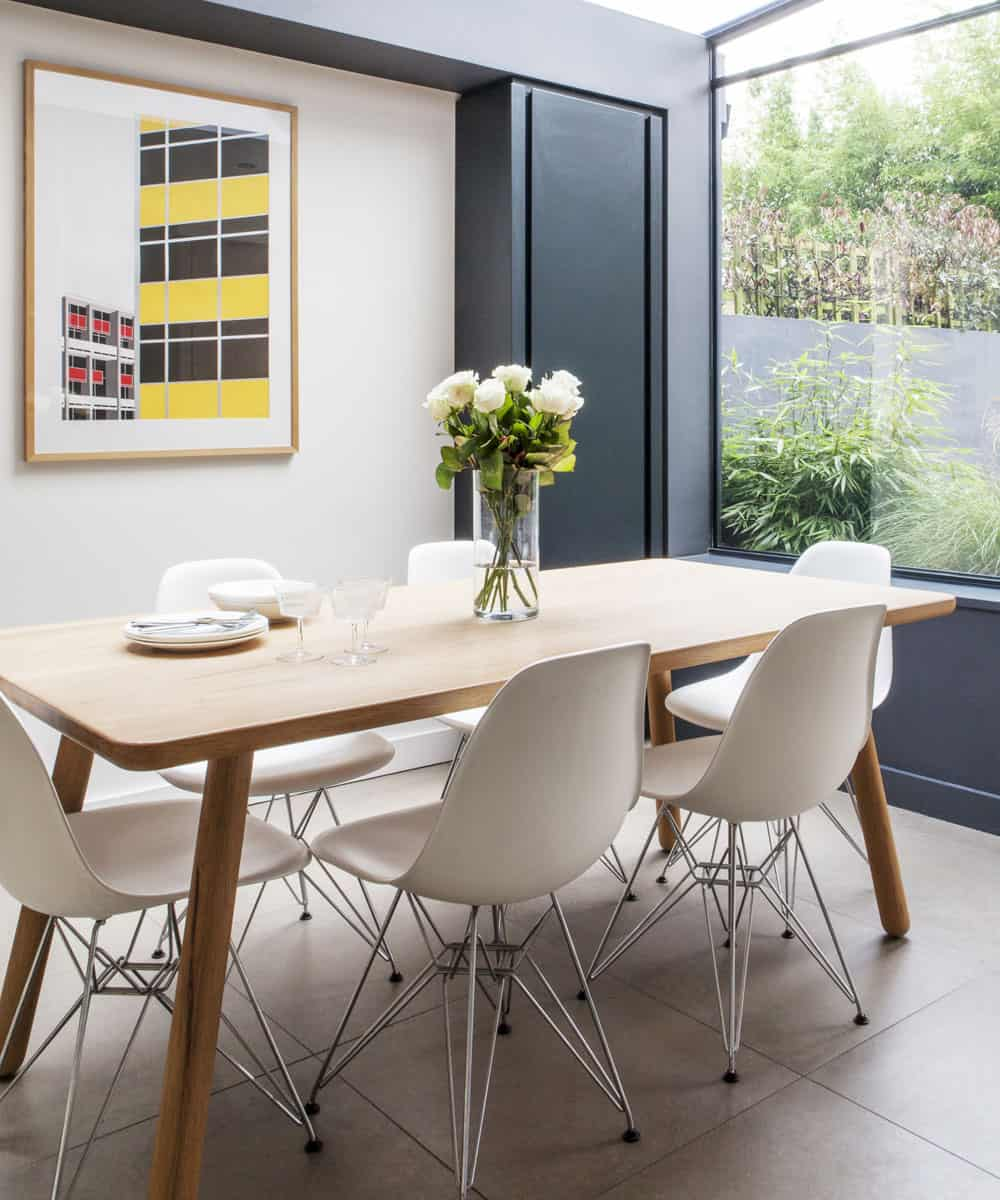 modern midcentury casual dining room