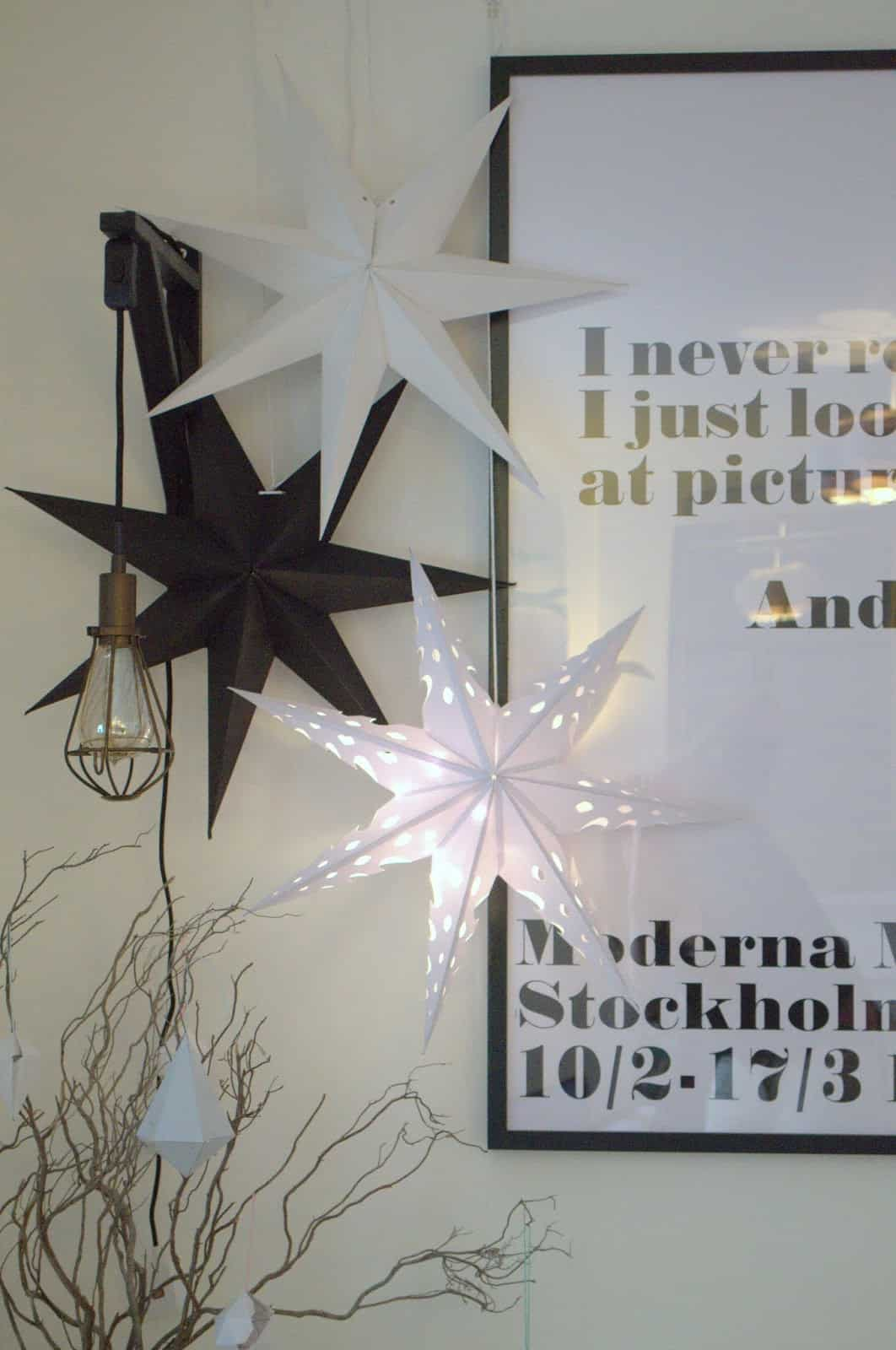 Paper stars are an excellent form of adding a celestial feel to the home.