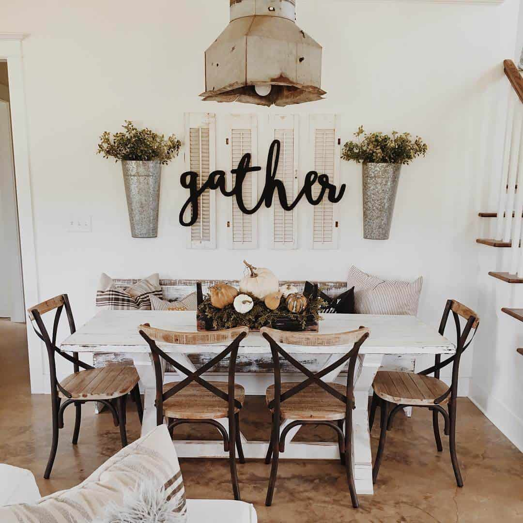 shabby chic casual dining room