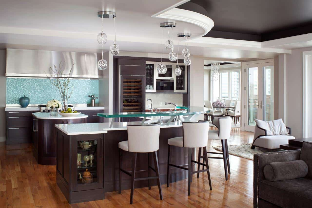 Trendy kitchen island stool ideas - Kitchen island with stools ...
