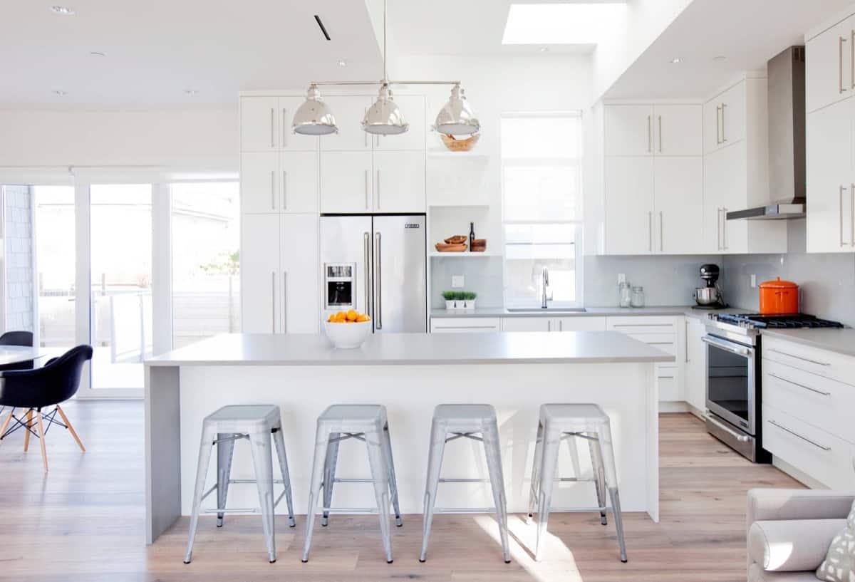 super white and grey modern kitchen