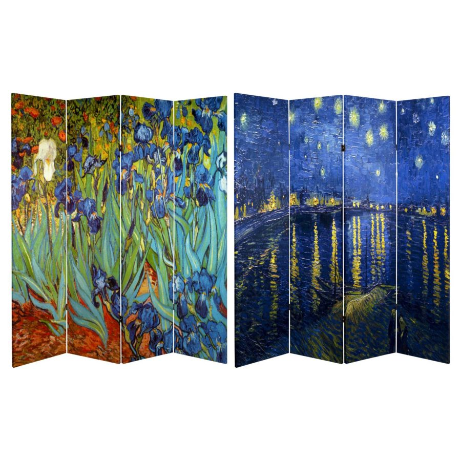 van gogh fine art double sided room divider 900x900 15 Room Divider Ideas For Apartments & Houses Alike