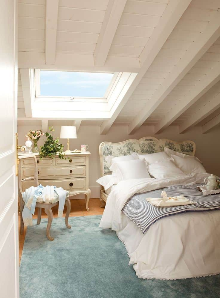 vintage attic bedroom idea