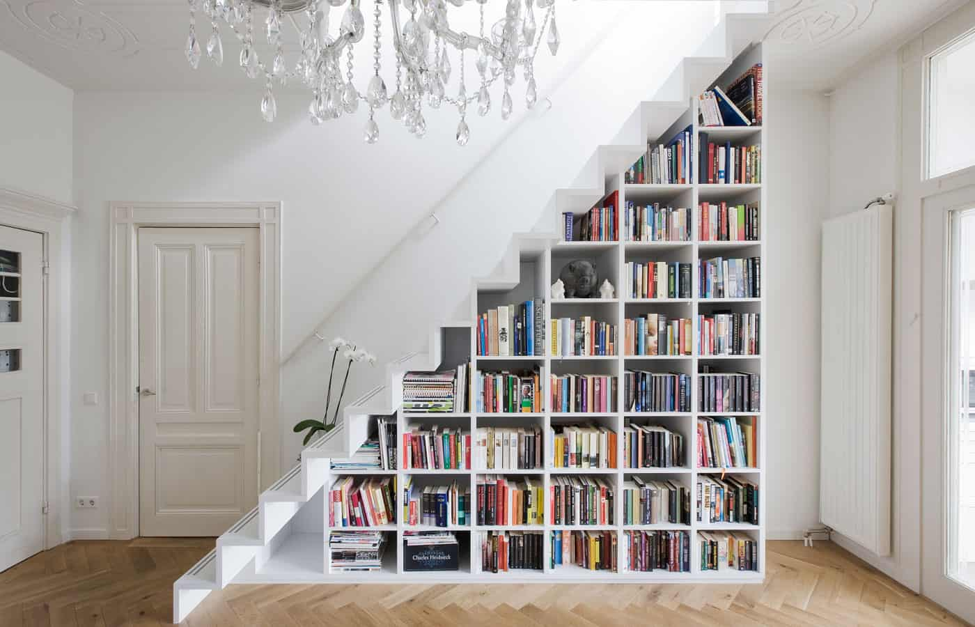 Captivating Floor To Ceiling Bookshelves
